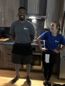 Quentin and Elyse with Dazey House Cleaning, LLC love their cleaning tools belts. Click on them to see more about Dazey