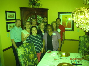 HCH class in front of buffet with Keri and me 5-1-15 to 5-3-15